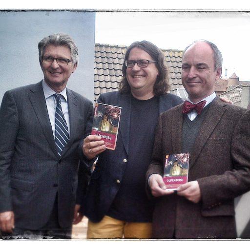 2013 | Reiseführer Oldenburg | mit Oberbürgermeister Gerd Schwandner (l.) und Co-Autor Jörgen Welp2011 | am 50. Geburtstag vorgelese | Oldenburg