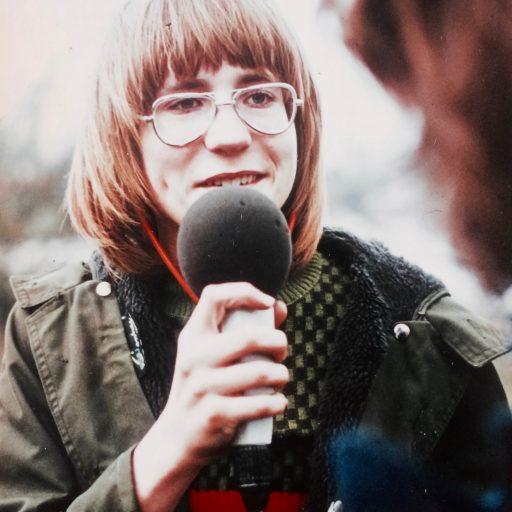 1975 | als TV-Reporter für die ZDF-Sendung Schüler-Express | Hofheim am Taunus