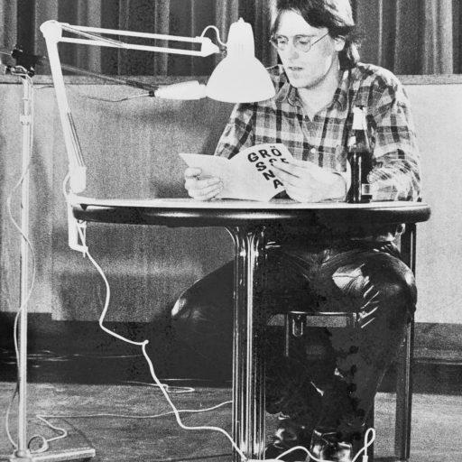 1986 | GRÖSSENWAHN | Erste Ausgabe, Lesen auf der literarischen Party in der Uni-Aula | Vechta